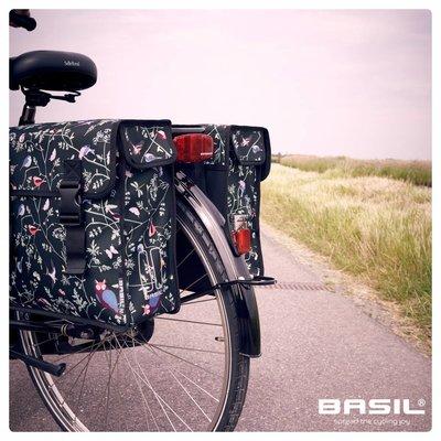Basil Wanderlust - doppelte Fahrradtasche - 35 Liter- charcoal