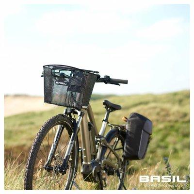 Basil Miles - fietsrugzak - 17 liter - zwart/grijs