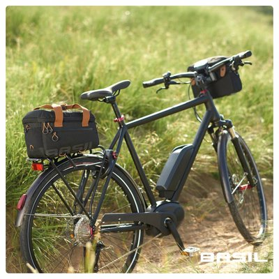 Basil Miles Handlebar Bag - stuurtas - 6L- zwart/grijs