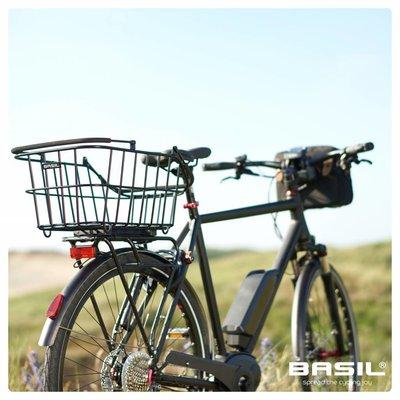 Basil Cento Alu Multi System - bicycle basket - rear - removable - black