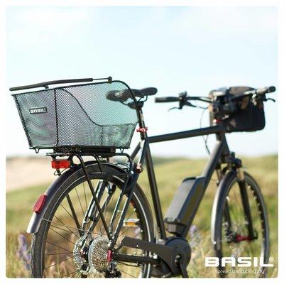 Basil Icon M Multi System - bicycle basket - rear - black