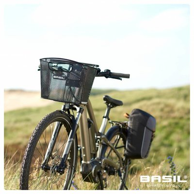 Basil Bold Front Fixmounted - bicycle basket - 16L - front - black