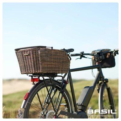 Basil Cento Rattan Look Multi System - fahrradkorb - gepäckträger - L - braun