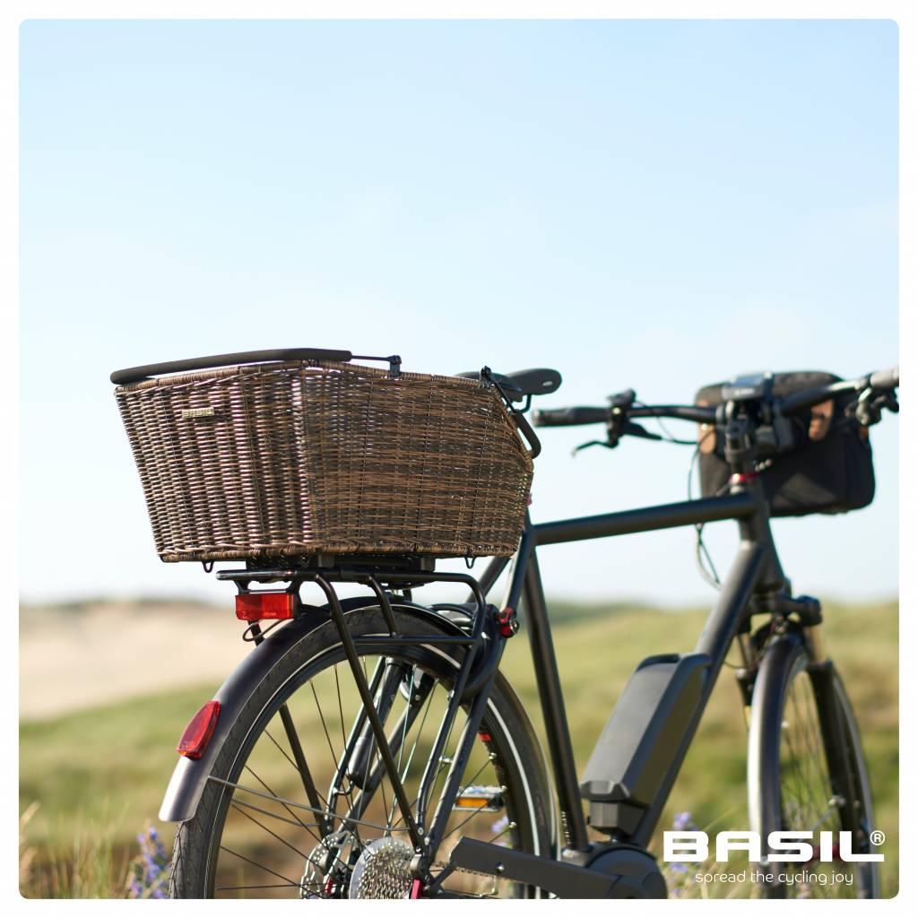 Basil Cento Rattan Look Multi System Fahrradkorb Hinten Braun
