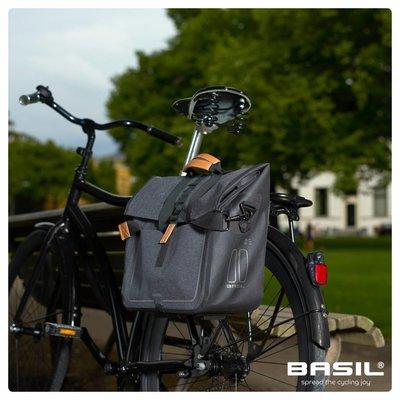 Basil Urban Dry Business Bag - einfache fahrradtasche - 20L - dunkelgrau