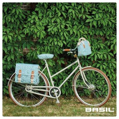 Basil Bohème Double Bag - bicyble bag - 35L - green