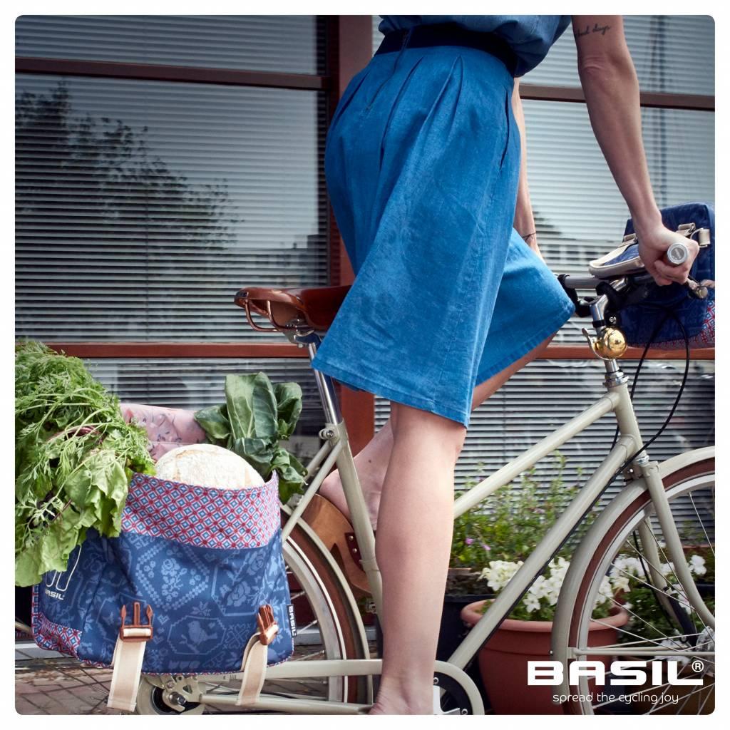 Bohème Double Bag- Double Bike Bag - 35L- Blue - Basil 3694b92c768df
