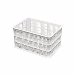 Basil Crate L - fahrradkiste - 50l - Weiss