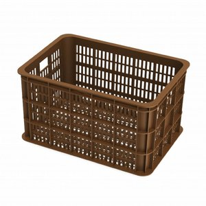 Basil Crate L - bicycle crate -  50L - saddle brown