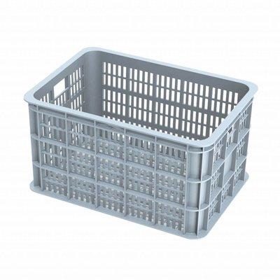 Basil Crate L - bicycle crate -  50L - silver cloud