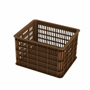 Basil Crate M - bicycle crate -  33L - saddle brown