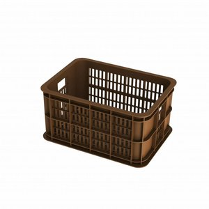 Basil Crate S - bicycle crate -  25L - saddle brown