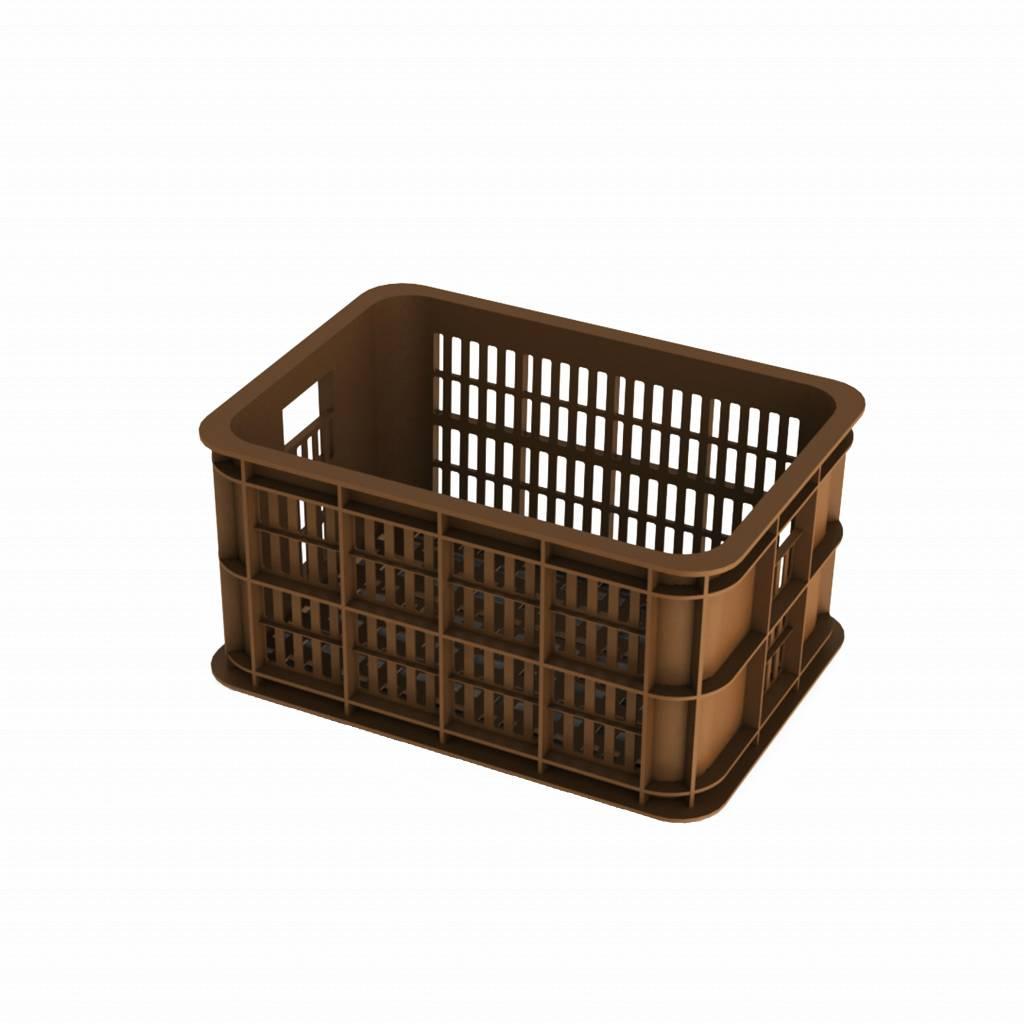 basil crate s bicycle crate 25l saddle brown basil