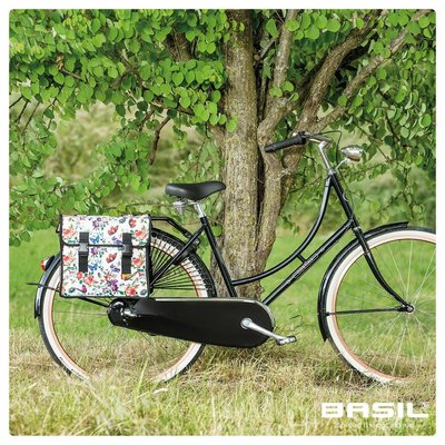 Basil Mara XL - double bicycle bag - 35 liter - meadow