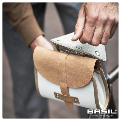 Basil Portland - saddle bag - 0,5 liter - crème