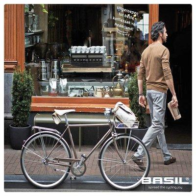 Basil Portland Saddlebag - zadeltas - 0,5L - creme