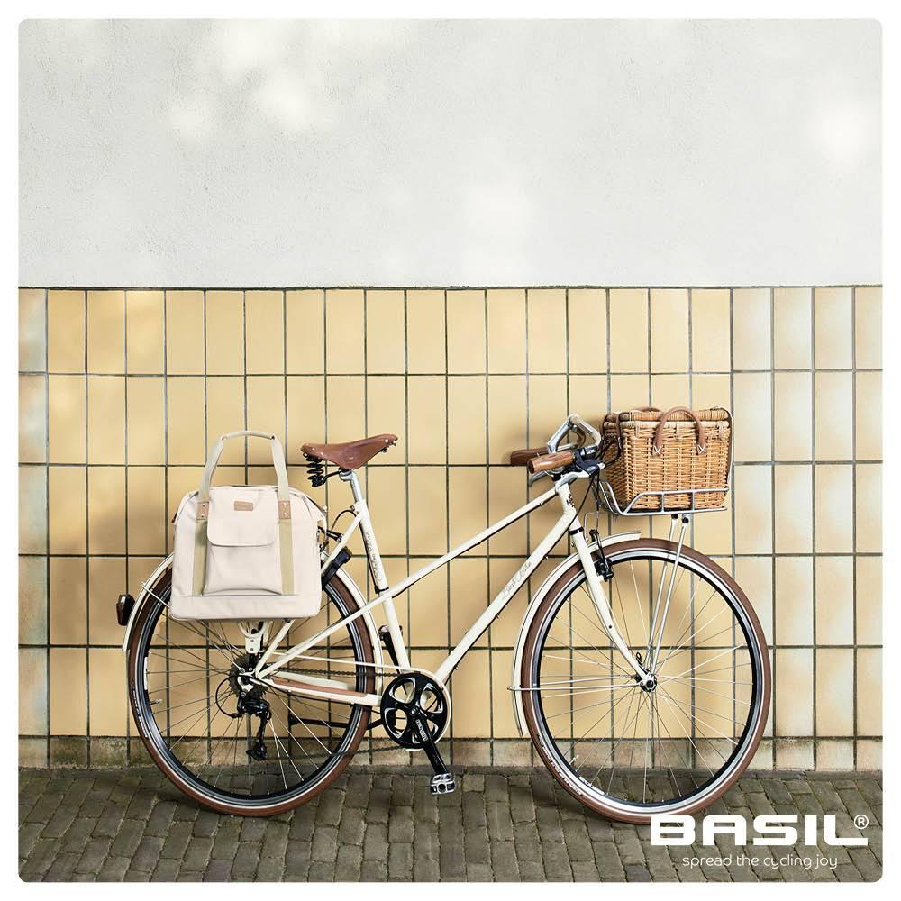 Basil Portland Business Bag - laptop bike bag - bike shoulder bag - 19L -  cream 2095130fe0096