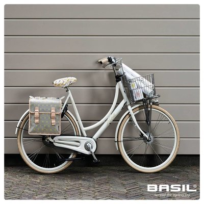 Basil Star Double Bag - double bicycle bag - 35L - grey