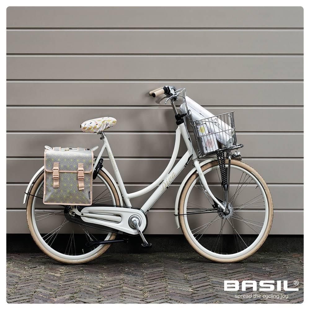 Basil Star Double Bag - double bicycle bag - 35L - grey - Basil 2b1d8f00d4195