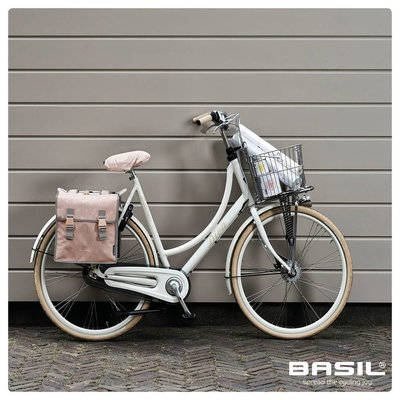 Basil Star Double Bag - double bicycle bag - 35L - pink