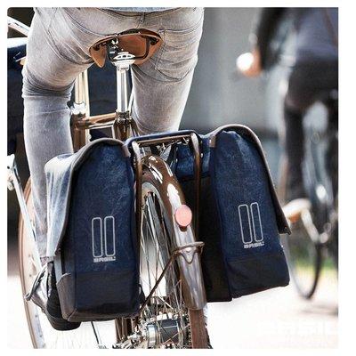 Basil Urban Fold Messenger - fietstas - blauw