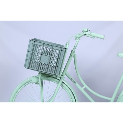 Basil Crate L - Fahrradkiste -  50L - seagrass