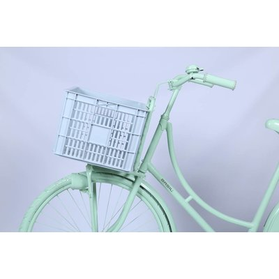 Basil Crate L - fietskrat -  50L - silver cloud