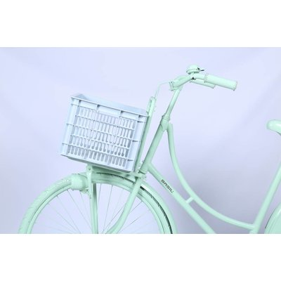 Basil Crate M - bicycle crate -  33L - silver cloud