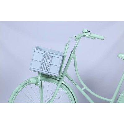 Basil Crate S - Fahrradkiste -  25L - silver cloud