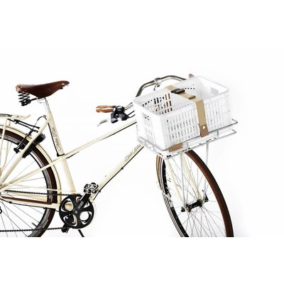 Basil Crate S - bicycle crate - 25L - white