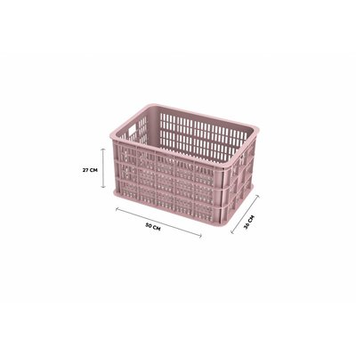 Basil Crate L - bicycle crate -  50L - faded blossom