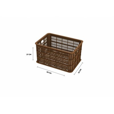 Basil Crate L - fietskrat -  50L - saddle brown
