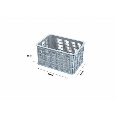 Basil Crate L - Fahrradkiste -  50L - silver cloud