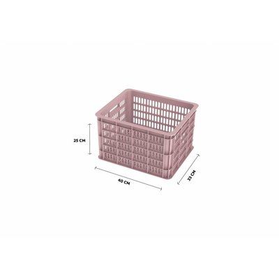 Basil Crate M - Fahrradkiste -  33L - faded blossom
