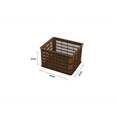 Basil Crate M - fietskrat -  33L - saddle brown