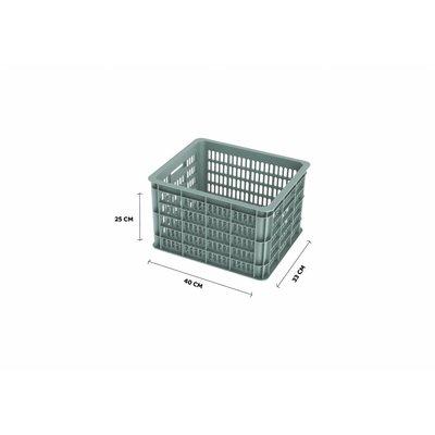 Basil Crate M - Fahrradkiste -  33L - silver cloud
