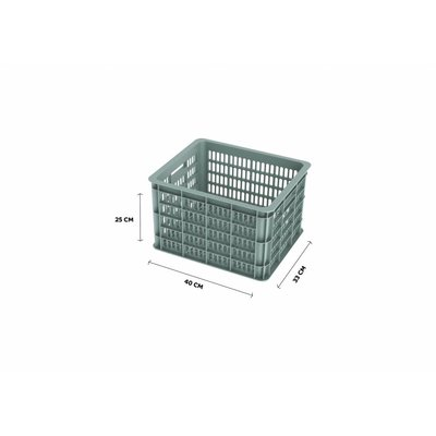 Basil Crate M - fietskrat -  33L - silver cloud