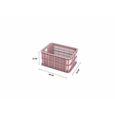 Basil Crate S - bicycle crate -  25L - faded blossom