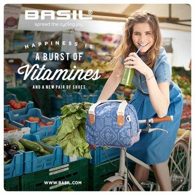 Basil Boheme City Bag - lenkertasche - fahrradschultertasche - 7L - blau