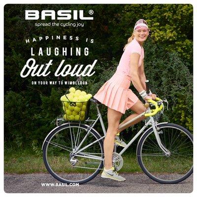 Basil Bold S - fietsmand - achterop - zwart