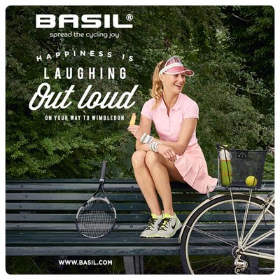 Basil Bold L - bicycle basket - rear - black