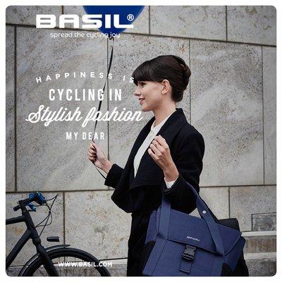 Basil GO Double Bag - dubbele fietstas - 32L - denim blauw