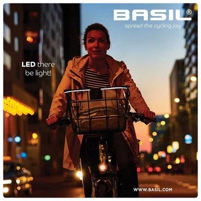 Basil Bremen Alu BE/KF Nordlicht - fietsmand - voorop - zwart