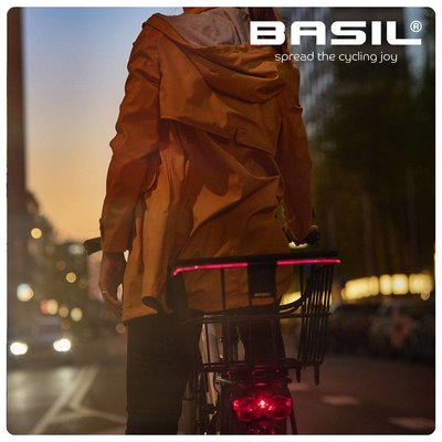 Basil Bremen Alu BE/KF Nordlicht - Fahrradkorb - vorne - schwarz