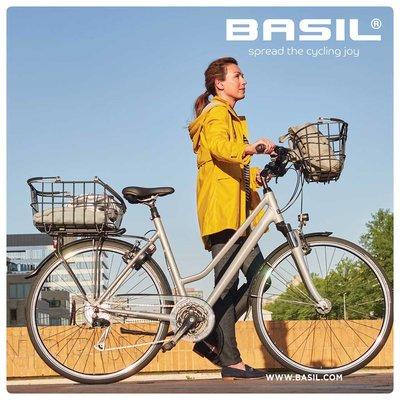 Basil Bremen Alu BE/KF Nordlicht - Fietsmand - Zwart