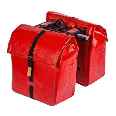 Basil Urban Dry Double Bag MIK – Double Bicycle Bag – Red