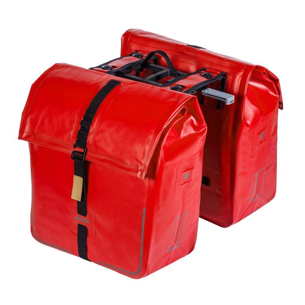 0545af94d9d Basil Urban Dry Double Bag MIK – Dubbele Fietstas – Rood - Basil