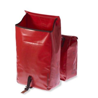 Basil Urban Dry Double Bag MIK – doppelte Fahrradtasche – rot
