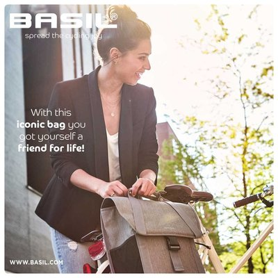 Basil GO Single Bag - Single pannier - Grey