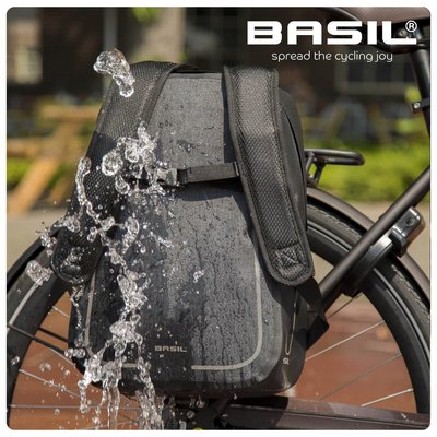 Basil Urban Dry Backpack - Bicycle Backpack - Grey